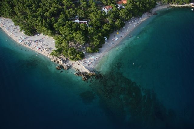 Punta Rata - Punta Rata - najkrajšia pláž v Brele, fotka z padáku